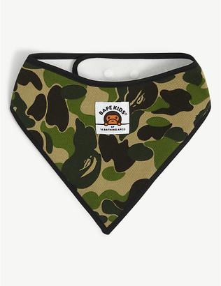 A Bathing Ape ABC Milo camouflage-print cotton bandana bib 6 months