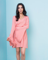 Missy Empire Macy Coral Bell Sleeve Swing Dress