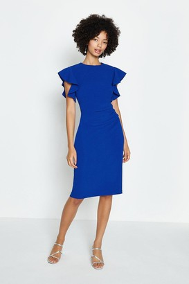 Coast Ruffle Sleeve Ruched Waist Dress
