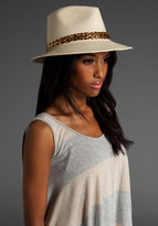 Lauren Panama Fedora with Gold Chain