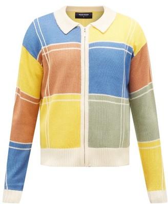 Noon Goons Colour-block Zip-through Knit Cardigan - Mens - Multi