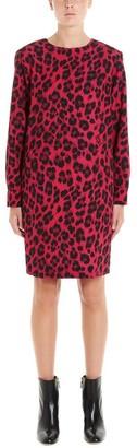 Boutique Moschino Leopard Print Shift Dress
