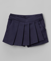 Eddie Bauer Navy Pleated Skort - Girls