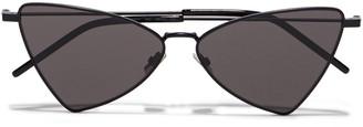 Saint Laurent Jerry Cat-eye Metal Sunglasses