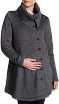 Momo Maternity Fleece Lined Sweatshirt Coat (Maternity)