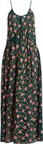 Ashish Floral-embellished side-slit silk-georgette dress