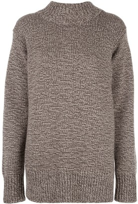 The Row Oversize Crew-Neck Cashmere Sweater