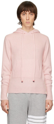 Thom Browne Pink Cashmere Over-Washed Hoodie