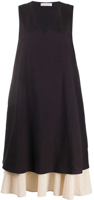 Fabiana Filippi Two-Tone Layered Dress