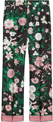 Gucci Floral Trousers