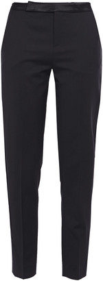 Equipment Satin-trimmed Wool-twill Tapered Pants