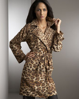 Leopard-Print Trench