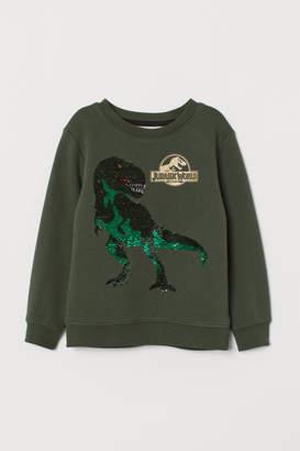 H&M Sweatshirt with Sequin Motif
