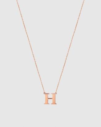 Secret Sisterhood Initial H Letter Necklace