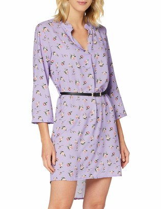 Frenchcool Women's Robe Violette a Fleur Taille Unique Casual Night Out Dress Size