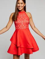 Dotti Red Alert Lace Bodice Dress