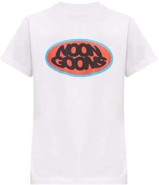 Noon Goons Fish Eye Logo-print Cotton T-shirt - Mens - White
