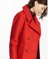 Express red double breasted peacoat