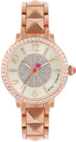 Betsey Johnson Women's Rose Gold-Tone Bracelet Watch 35mm BJ00617-03