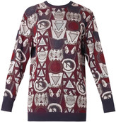 Mary Katrantzou Metallic sign-jacquard sweater
