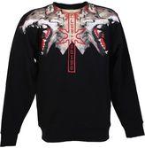 Marcelo Burlon County of Milan Wolves Print Black Cotton Sweater