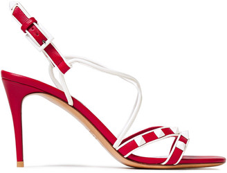 Valentino Free Rockstud Two-tone Leather Sandals