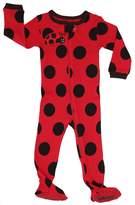 "Elowel Pajamas Elowel Baby Girls footed ""polka dot"" pajama sleeper 100% cotton 12-18 Months"
