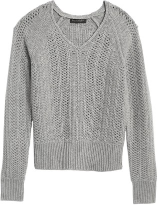 Banana Republic Cashmere Pointelle Sweater
