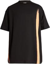 Raf Simons Bleach-print cotton oversized T-shirt