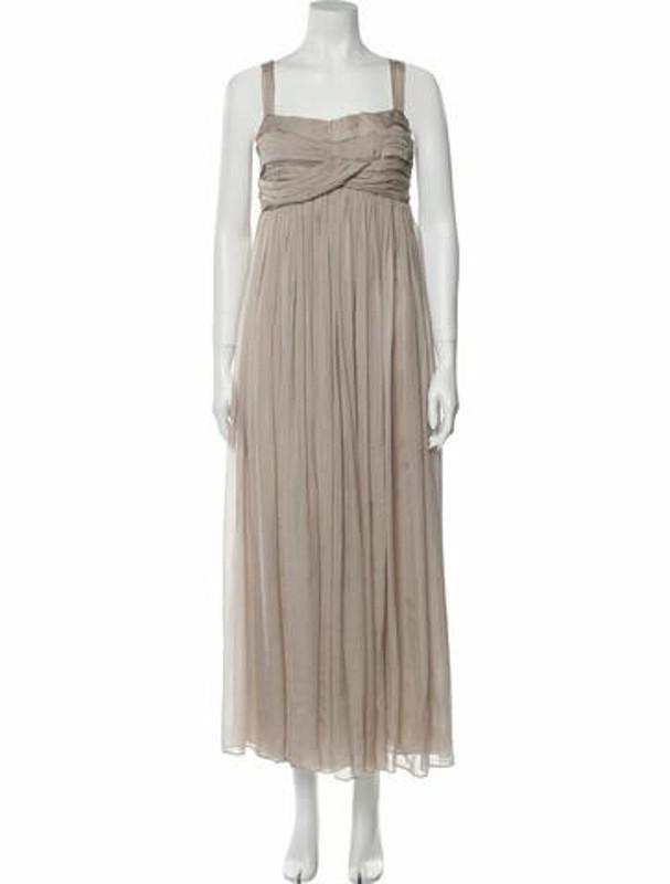 Matthew Williamson Square Neckline Long Dress