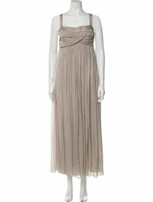 Matthew Williamson Square Neckline Long Dress