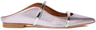 Malone Souliers Maureen Metallic Leather Slippers
