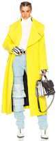 Marques Almeida Marques ' Almeida Brushed Wool Oversize Coat in Yellow.