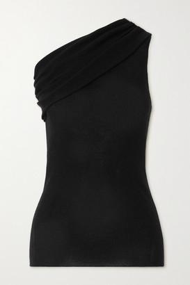 Rick Owens One-shoulder Ribbed Wool Top - Black