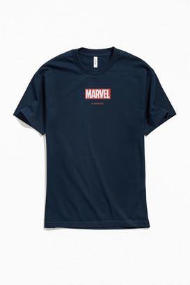 Marvel Red Brick Logo Tee