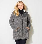 Avenue Marled Fleece Walker Coat