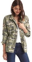 Gap Embroidered camo utility jacket