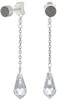 Chan Luu Gunmetal Agate Stud Dangle Earrings