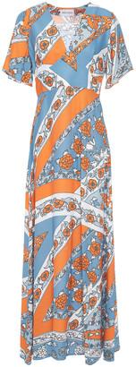Antik Batik Leandra Floral-print Jacquard Maxi Dress