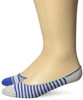 Timberland Men's 2 Pack Striped Boat Shoe Liner Sock
