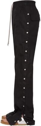 Rick Owens Snap Button Cotton Ripstop Pants