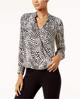 INC International Concepts Printed Surplice Top, Created for Macy's