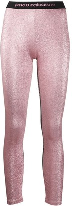 Paco Rabanne Glitter-Effect Leggings
