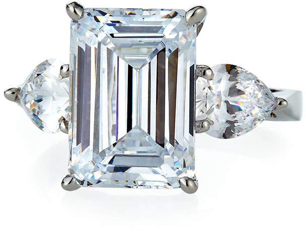 Emerald-Cut Cubic Zirconia Ring Sizes 6-7