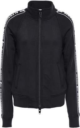 Alexander Wang Printed French Cotton-blend Terry Track Jacket