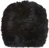 Barneys New York Women's Fur Slouchy Beanie-BLACK