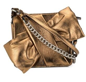 Paule Ka slanted bow-tie crossbody bag