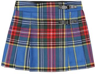 Bonpoint Folk tartan wool skirt