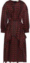 Fendi Layered Silk-jacquard Midi Dress - IT38
