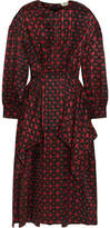 Fendi Layered Silk-jacquard Midi Dress